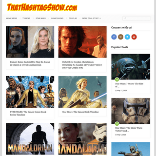 That Hashtag Show - Everything Trending In Geek Pop Culture!