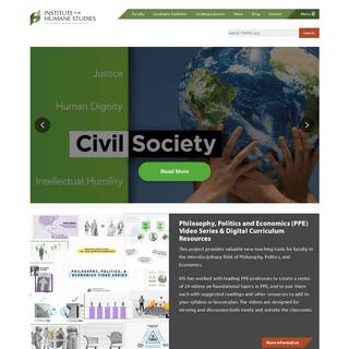 Institute for Humane Studies - Home