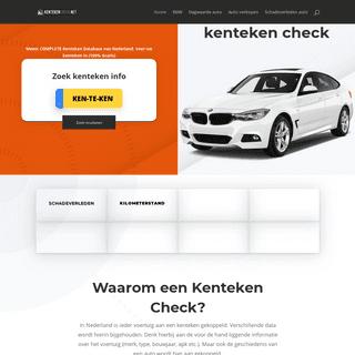 Kenteken Check - 100- GRATIS TOEGANG Autoverleden, KM Stand etc.