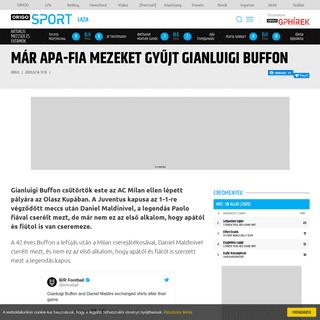 ArchiveBay.com - www.origo.hu/sport/laza/20200214-apafia-mezeket-gyujt-gianluigi-buffon.html - Már apa-fia mezeket gyűjt Gianluigi Buffon