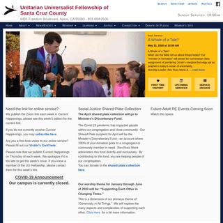 ArchiveBay.com - uufscc.org - Unitarian Universalist Fellowship of SantaCruzCounty – 6401 Freedom Boulevard, Aptos, CA 95003 – 831.684.0506