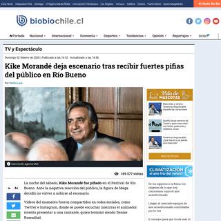 Kike Morandé deja escenario tras recibir fuertes pifias del público en Río Bueno - TV y Espectáculo - BioBioChile