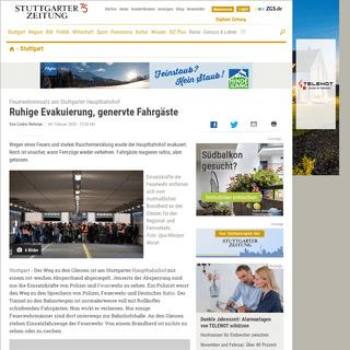 Feuerwehreinsatz am Stuttgarter Hauptbahnhof- Ruhige Evakuierung, genervte Fahrgäste - Stuttgart - Stuttgarter Zeitung