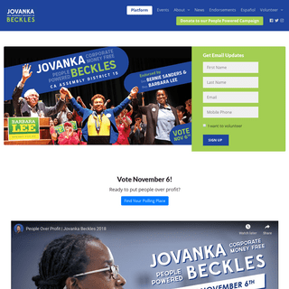 Jovanka Beckles For State Assembly