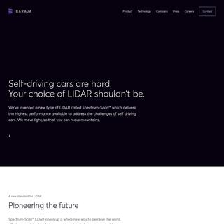 Baraja - Spectrum-Scan™ LiDAR technology for self-driving cars