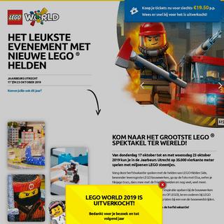 LEGO World 2019 – leukste uitje in de herfstvakantie
