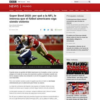 Super Bowl 2020- por qué a la NFL le interesa que el fútbol americano siga siendo violento - BBC News Mundo