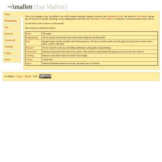 Ian Mallett - Home Page