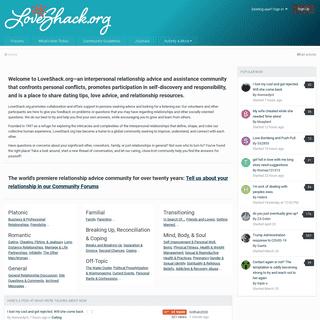 LoveShack.org- Interpersonal Relationship Advice and Assistance - LoveShack.org