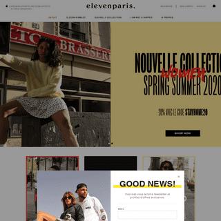 Boutique en ligne officielle. Homme, Femme et Enfant. - Eleven Paris