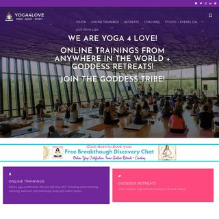 Yoga 4 Love – Inner Goddess Online Trainings + Retreats