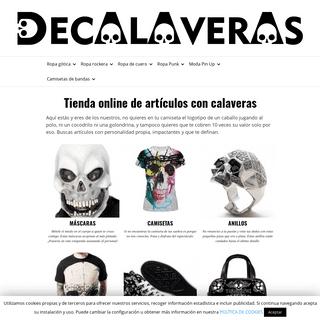 Tienda online de artículos con calaveras - DECALAVERAS.COM