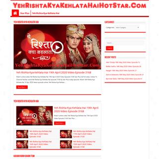 Yeh Rishta Kya Kehlata Hai HotStar Serial Watch Latest Episodes Online In HD