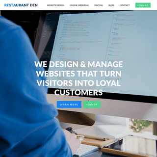 Restaurant Website Design - Restaurant Den