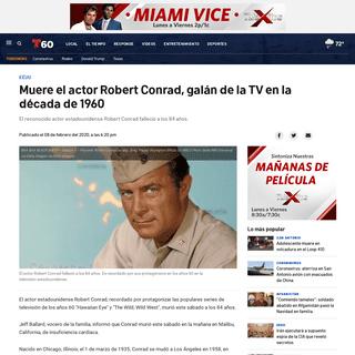 Muere el actor Robert Conrad, galán de la TV en la década de 1960 – Telemundo San Antonio (60)