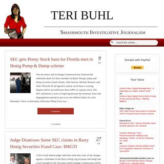 TERI BUHL — Smashmouth Investigative Journalism