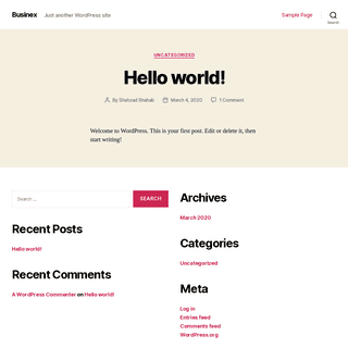 Businex – Just another WordPress site