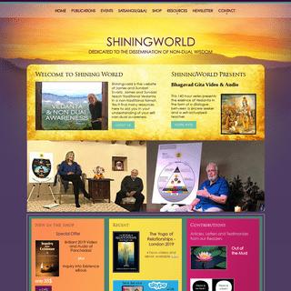 ShiningWorld - Vedanta Teacher James Swartz - Vedanta Resources - Non Duality Resources