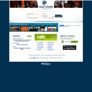 AquiEnGuate - Servicio de Búsqueda de Empresas en Guatemala