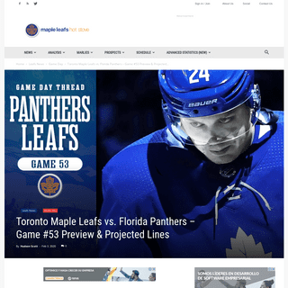 ArchiveBay.com - mapleleafshotstove.com/2020/02/03/toronto-maple-leafs-vs-florida-panthers-game-53-preview-projected-lines/ - Toronto Maple Leafs vs. Florida Panthers – Game #53 Preview & Projected Lines - Maple Leafs Hotstove