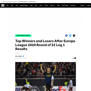 Top Winners and Losers After Europa League 2020 Round of 32 Leg 1 Results - Bleacher Report - Latest News, Videos and Highlights