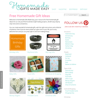 Free Homemade Gift Ideas. Instructions for Easy Homemade Gifts to Make