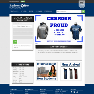 Welcome - Southwest Tech Bookstore
