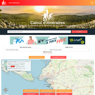 Calcul d'itinéraires - Course à pied, Vélo, Randonnée, Roller... - Calculez la distance de vos parcours sportifs.