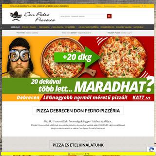 Pizza házhozszállítás Debrecen - Don Pedro Pizzéria Debrecen