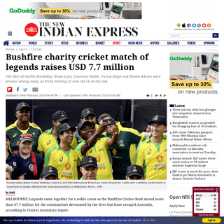Bushfire charity cricket match of legends raises USD 7.7 million- The New Indian Express