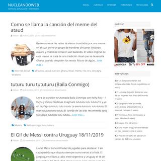 NucleandoWeb - Noticias, actualidad y contenido