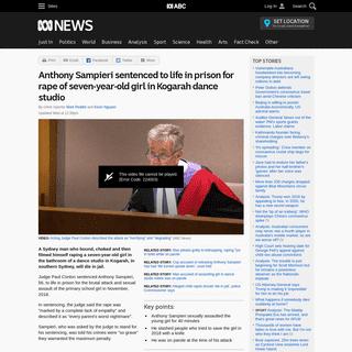Anthony Sampieri sentenced to life in prison for rape of seven-year-old girl in Kogarah dance studio - ABC News (Australian Broa