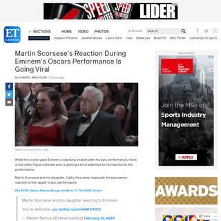 Martin Scorsese's Reaction During Eminem's Oscars Performance Is GoingViral - ETCanada.com