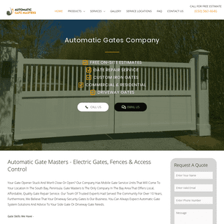 Automatic Gate Masters - Electric Gates Company - Call (650) 560-4646