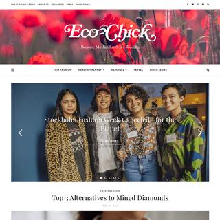 Eco-Chick · Fair Fashion, Ecofeminism, Ethical Travel