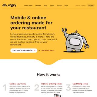 eHungry - Mobile & Online Ordering System for Restaurants