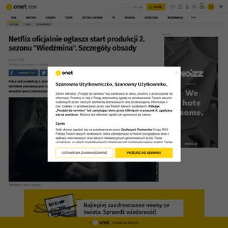-Wiedźmin-- Netflix ogłasza start produkcji 2. sezonu. Nowe informacje - Film