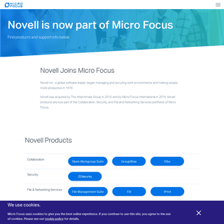 Novell History and Product Links - Micro Focus