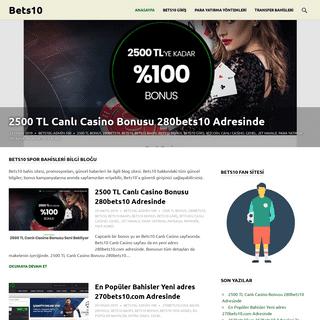 Bets10 – Bets10 bahis sitesi, promosyonları, güncel haberleri ile ilgili blog sitesi.