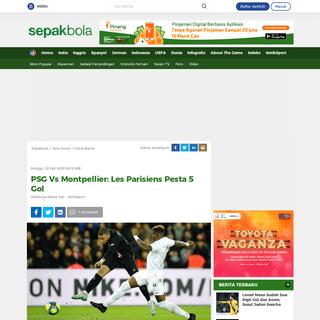 PSG Vs Montpellier- Les Parisiens Pesta 5 Gol