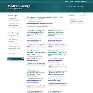ArchiveBay.com - medknowledge.de - Home - Aktuelle Studien