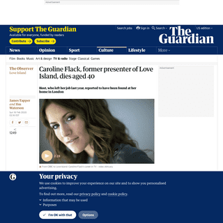 ArchiveBay.com - www.theguardian.com/tv-and-radio/2020/feb/15/former-love-island-presenter-caroline-flack-dies-aged-40 - Caroline Flack, former presenter of Love Island, dies aged 40 - Television & radio - The Guardian