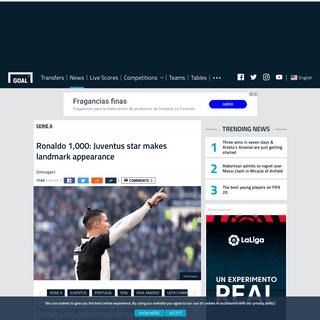 Cristiano Ronaldo 1,000- Juventus star makes landmark appearance - Goal.com