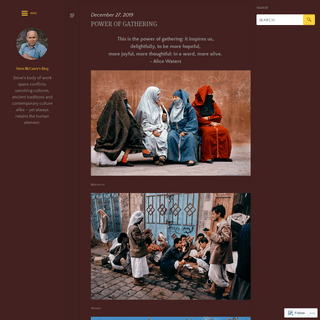 ArchiveBay.com - stevemccurry.blog - Steve McCurry's Blog - Steve's body of work spans conflicts, vanishing cultures, ancient traditions and contemporary culture ali