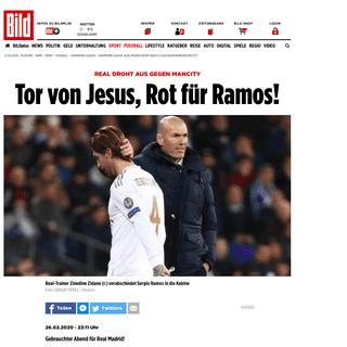Champions League- Real Madrid droht nach 1-2 Aus gegen Manchester City - Fussball - Bild.de
