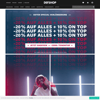 Streetwear & Hip Hop Klamotten Online Shop - DefShop