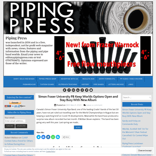 Piping Press – was launched in 2014 and is a free, independent, not for profit web magazine with news, views, features and inf