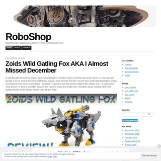 RoboShop - spacehamster's plasticrack addiction- mecha modeling and more