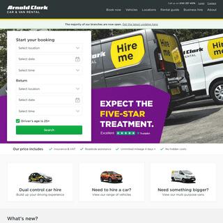 Car Hire UK - Van Hire Deals - Arnold Clark Car & Van Rental