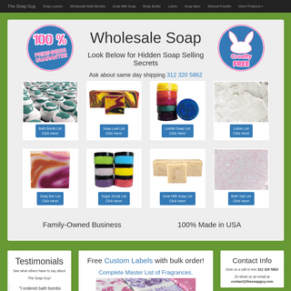 Wholesale Soap Loaves $1.17 Bars Private Label (Update 2019)
